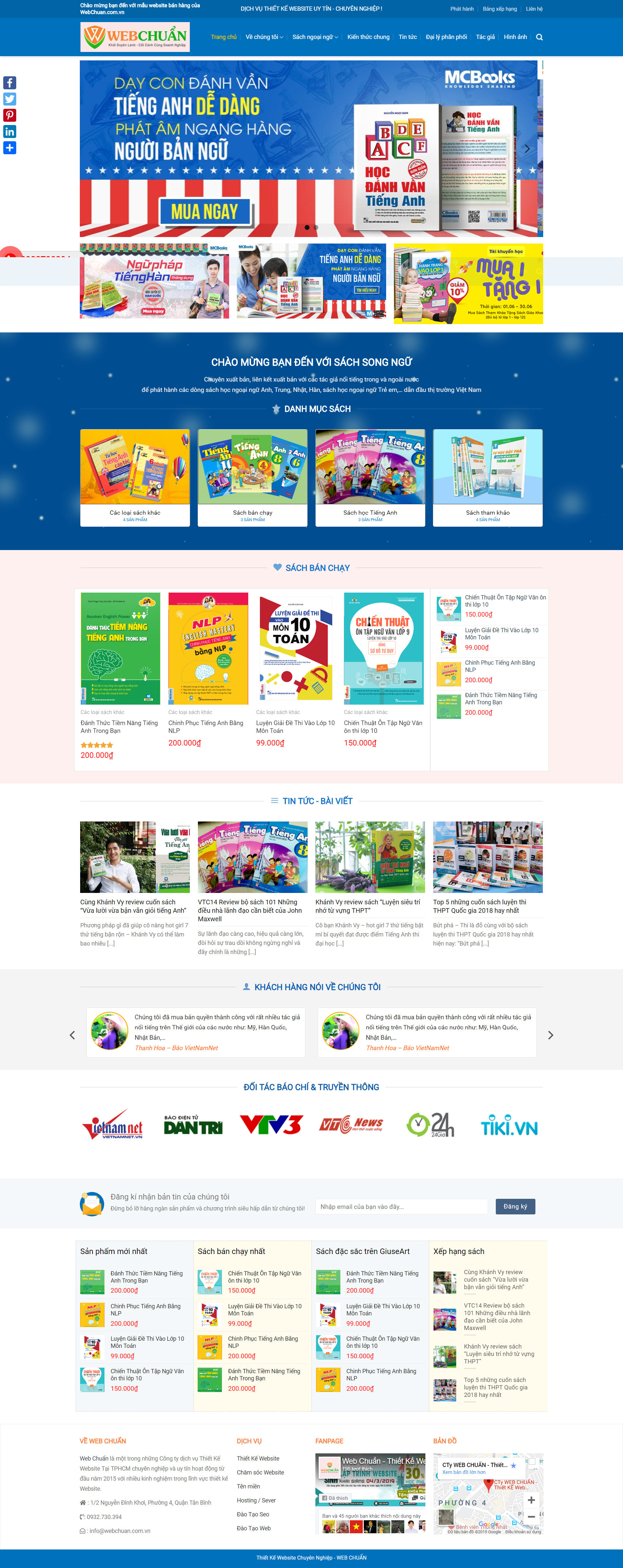 Mẫu Web Shop Bán Sách