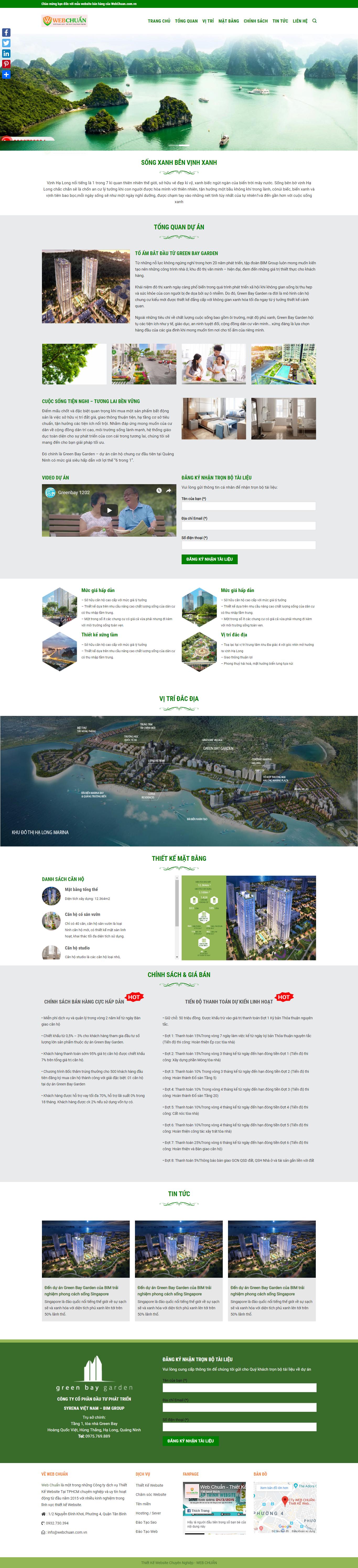Mẫu web greenbay