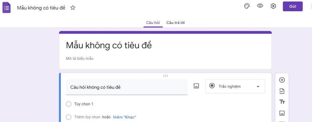 cách tạo google form chuyên nghiệp